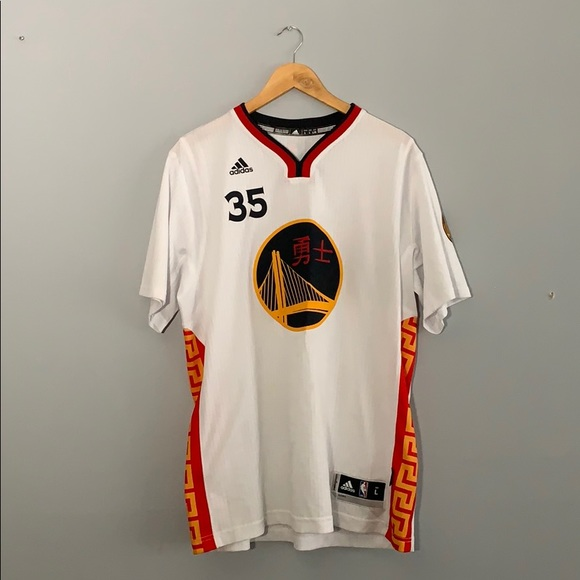 more photos 8d536 9bd2f Chinese New Year Kevin Durant Warriors Jersey